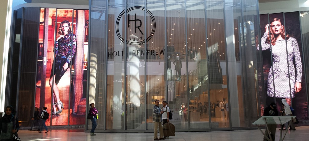 Holt Renfrew Toronto Canada NanoSlim 6.6mm Display Gridcast Design