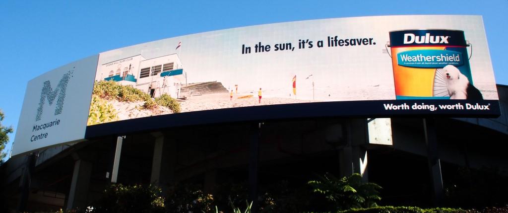 AMP Macquarie Centre - Waterloo Road Spectacular - Panasonic 13m x 3m 10mm Display