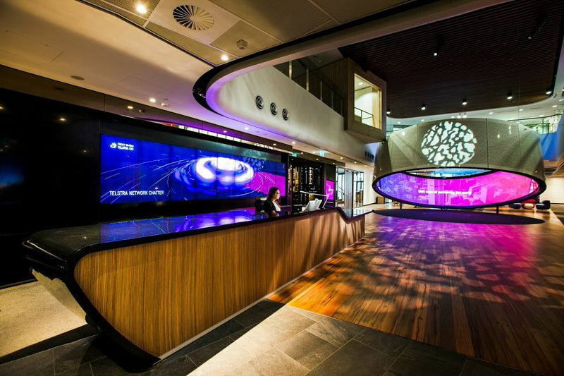 Telstra customer insight centre cic digital place for Experiential design sydney