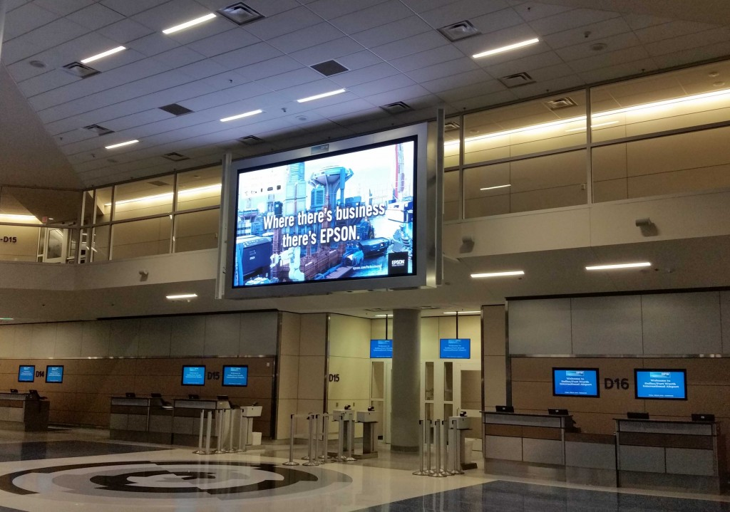 Dallas Departure area display, NanoSlim, 5mm